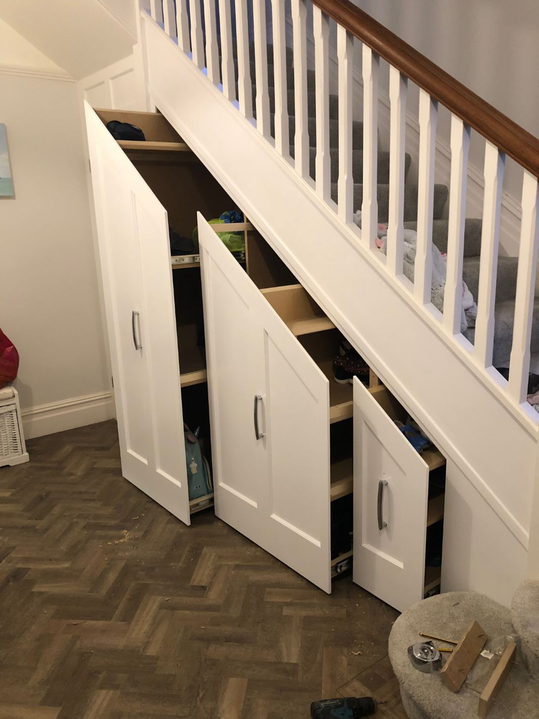 Home Renovations in Southbourne under stairs storage