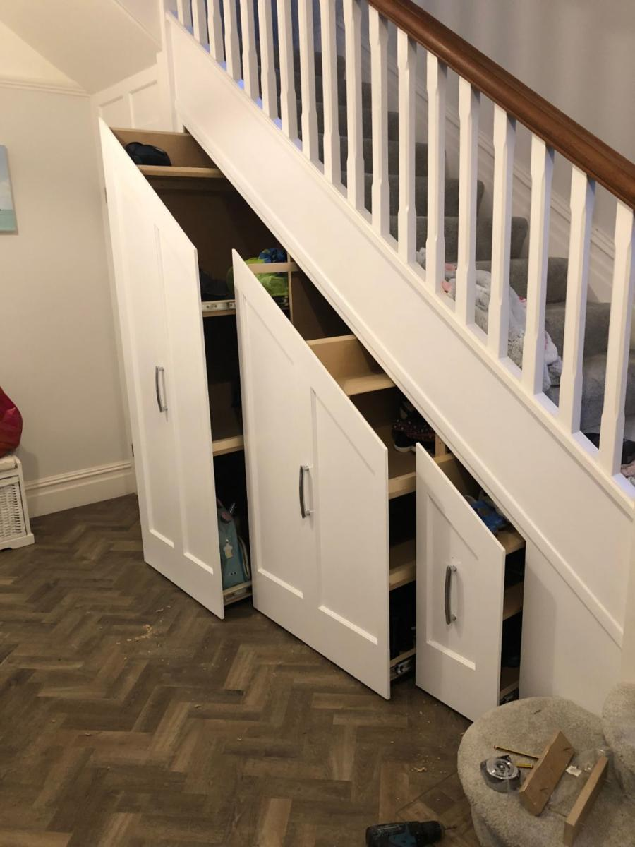 Sliding Under Stairs Storage Solutions Bournemouth Poole