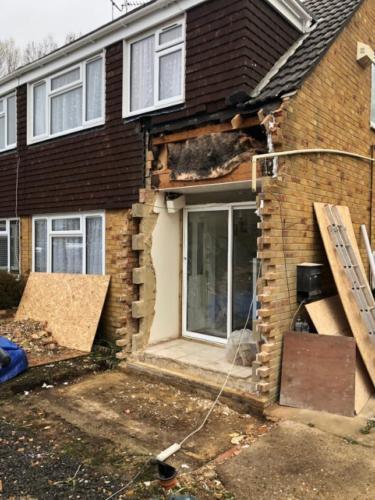 Porch Rebuild Canford Heath