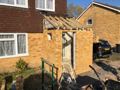 Porch Rebuild in Canford Heath