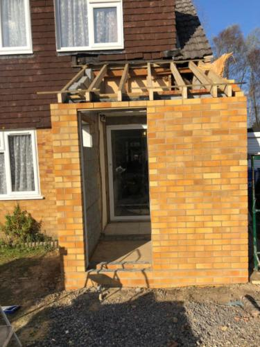 Front Porch Rebuild in Poole
